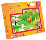 Brinquedo Educativo de Madeira de Encaixar Encaixe Fazendinha