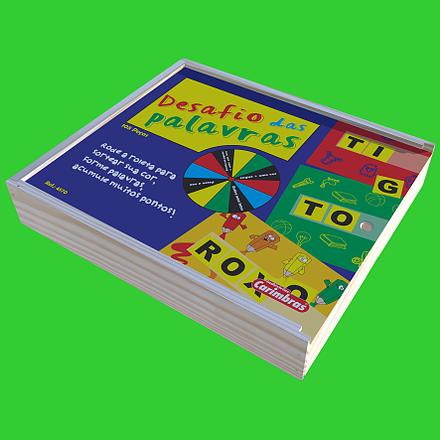 Desafio das Palavras Brinquedo Educativo de Madeira