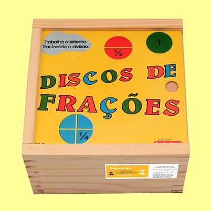 Brinquedo Educativo de Madeira Discos de Frações