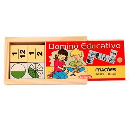 Brinquedo Educativo de Madeira Dominó de Frações