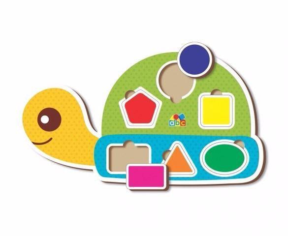 Brinquedo Educativo de Madeira Encaixa Figuras da Tartaruga
