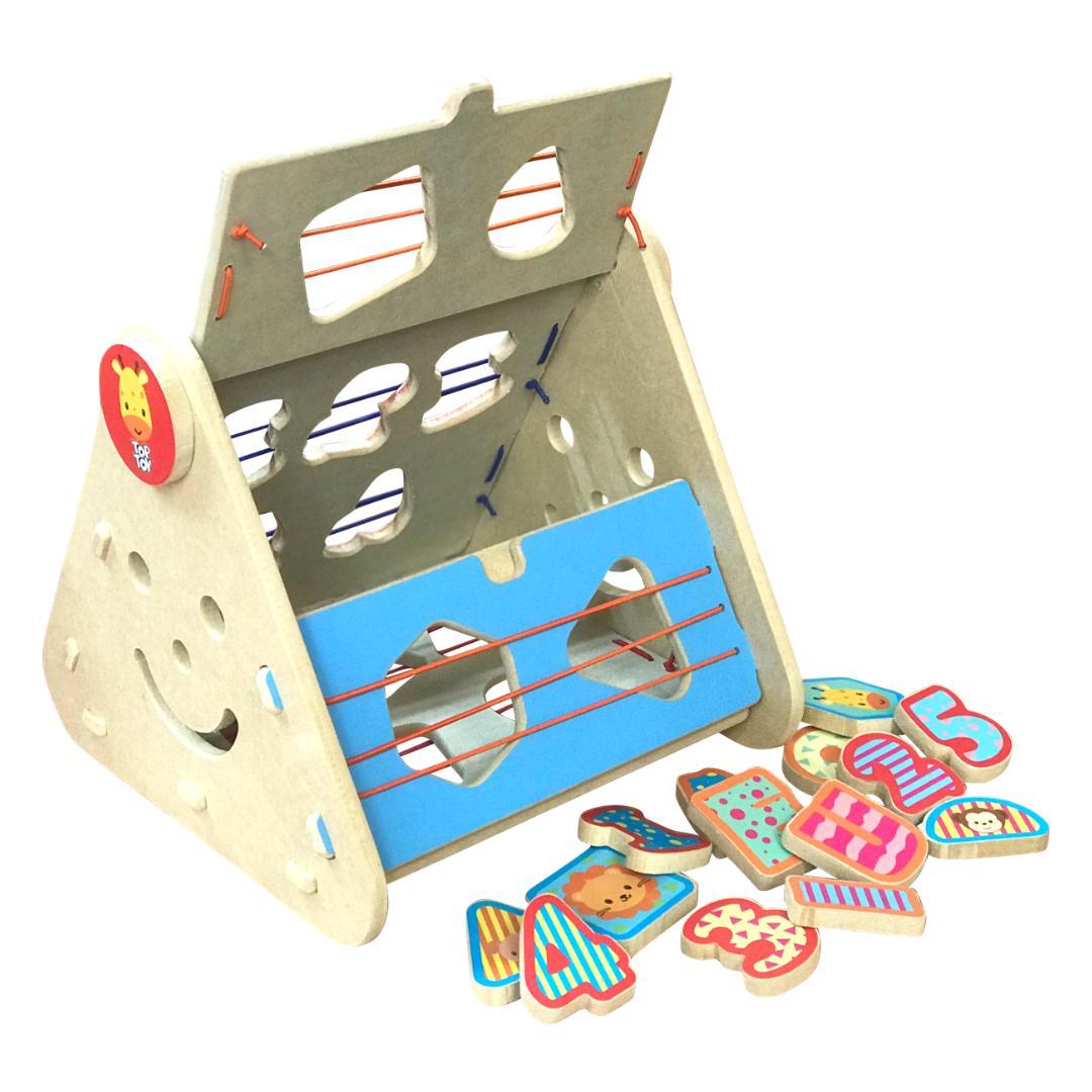 Brinquedo Educativo de Madeira Encaixa Formas