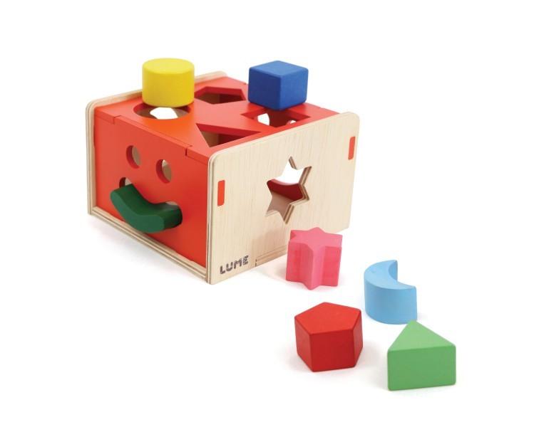 Encaixa na Caixa Brinquedo Educativo de Madeira