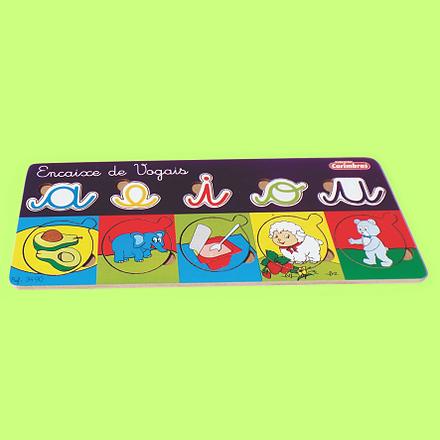 Encaixe de Vogais Brinquedo Educativo de Madeira