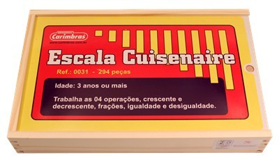 Brinquedo Educativo de Madeira Escala Cuisenaire 294 peças