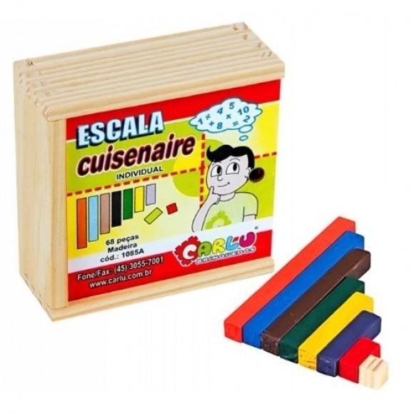 Brinquedo Educativo de Madeira Escala Cuisenaire individual