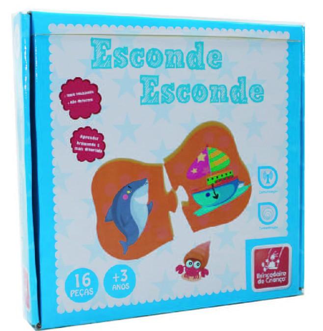 Brinquedo Educativo de Madeira Esconde Esconde