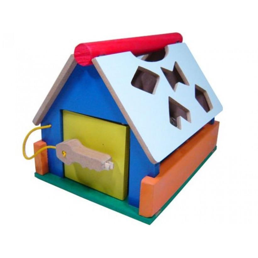 Casinha Baby Formas Brinquedo Educativo de Madeira