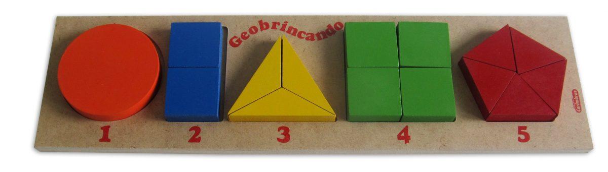 Brinquedo Educativo de Madeira Geobrincando