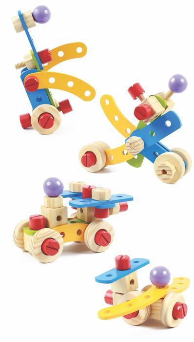 Brinquedo Educativo de Madeira Gire e Crie Coleção