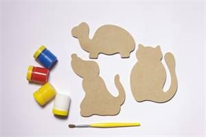 Brinquedo Educativo de Madeira Imãs Divertidos Bichos da Casa