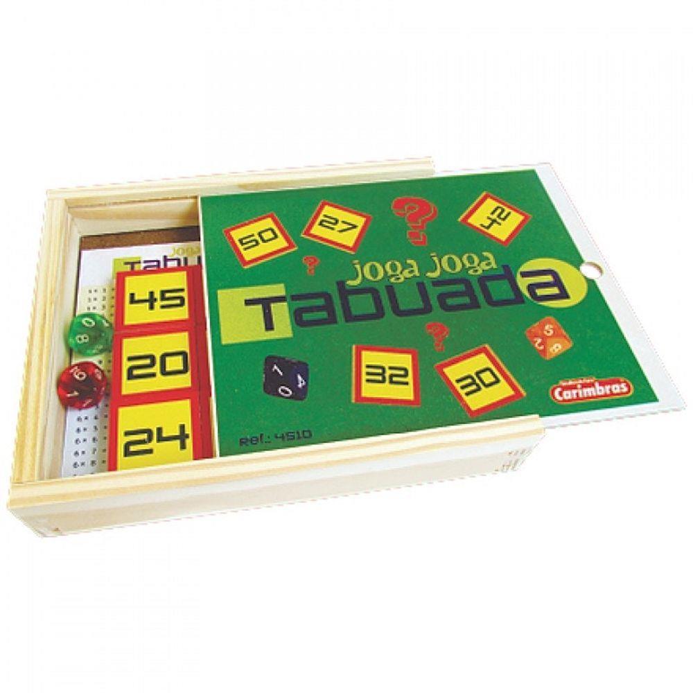 Brinquedo Educativo de Madeira Joga Joga Tabuada
