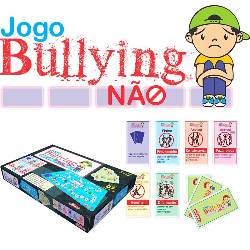Brinquedo Educativo de Madeira Jogo Bullyng Não