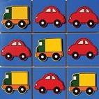 Brinquedo Educativo de Madeira Jogo da Velha Veículos