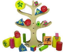 Brinquedo Educativo de Madeira Jogo do Equilibrio Árvore