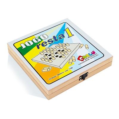 Brinquedo Educativo de Madeira Jogo Resta Um