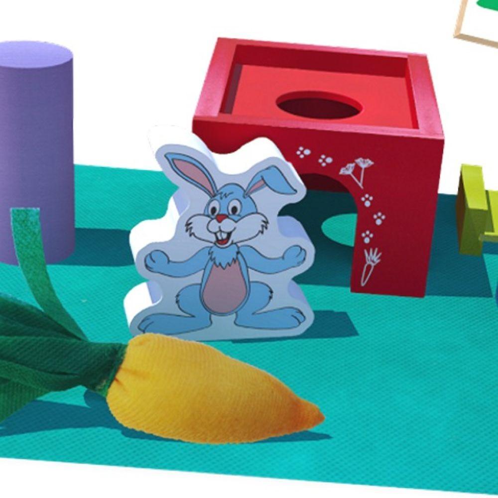Brinquedo Educativo de Madeira Jogo Toca do Coelho