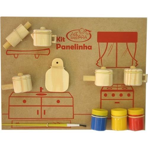 Brinquedo Educativo de Madeira Kit Panelinhas para Pintar