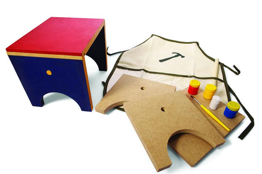 Kit Pequeno Marceneiro com Avental Faça você mesmo