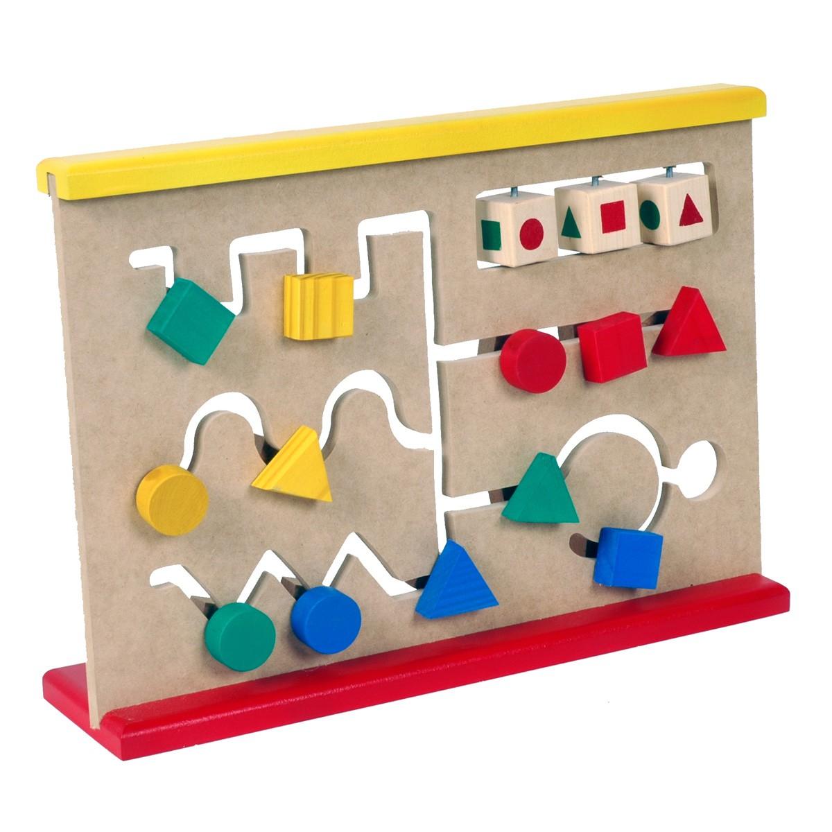 Brinquedo Educativo de Madeira Labirinto de Formas