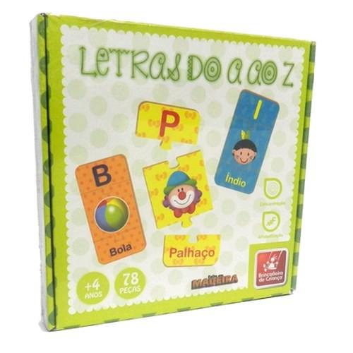 Brinquedo Educativo de Madeira Letras do A ao Z