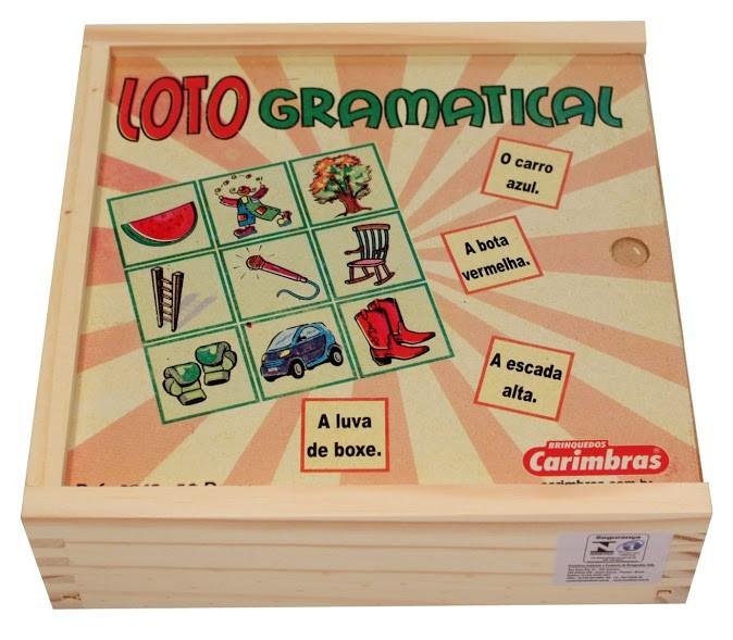 Brinquedo Educativo de Madeira Loto Gramatical