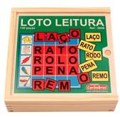Brinquedo Educativo de Madeira Loto Leitura