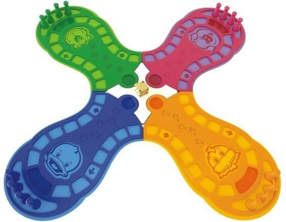 Brinquedo Educativo de Madeira Ludo Animado