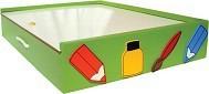 Brinquedo Educativo de Madeira Maleta do Artista Verde