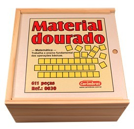 Brinquedo Educativo de Madeira Material Dourado 611 Peças