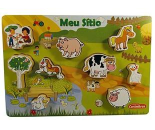 Brinquedo Educativo de Madeira Meu Sítio