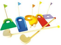 Brinquedo Educativo de Madeira Mini Golfe