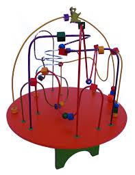 Brinquedo Educativo de Madeira Montanha Russa Mesa de Atividades