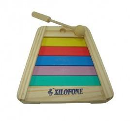 Brinquedo Educativo de Madeira Musical Xilofone Pequeno