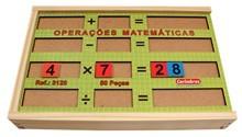 Operações Matemáticas Brinquedo Educativo de Madeira