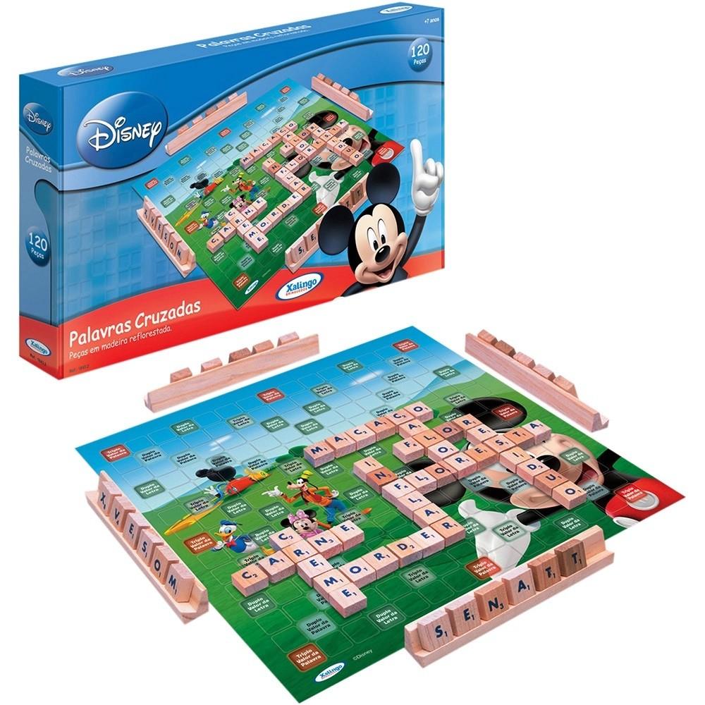 Brinquedo Educativo de Madeira Palavras Cruzadas Mickey Club House