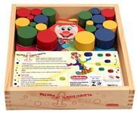 Brinquedo Educativo de Madeira Palhaço Equilibrista
