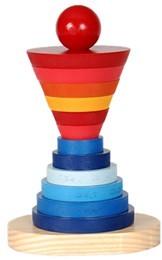 Brinquedo Educativo de madeira para montar Torre Serial
