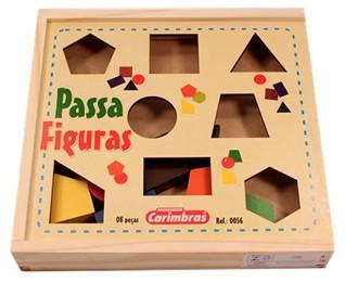 Passa Figuras Brinquedo Educativo de Madeira