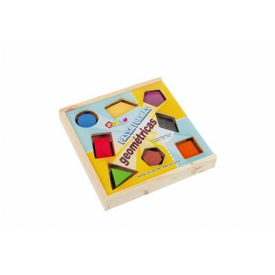 Brinquedo Educativo de Madeira Passa Formas Geométricas
