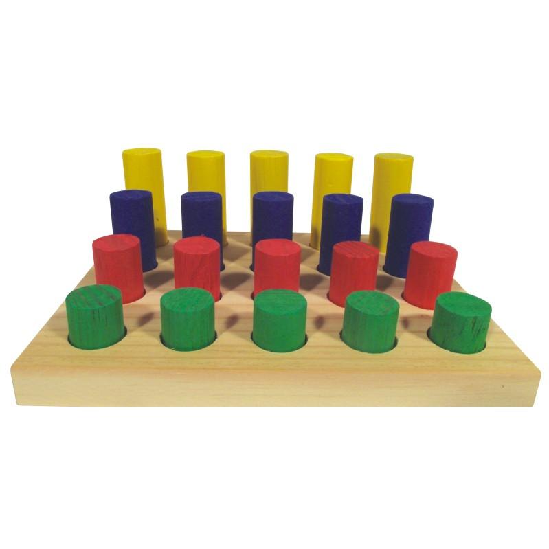 Brinquedo Educativo de madeira Pinos Coloridos
