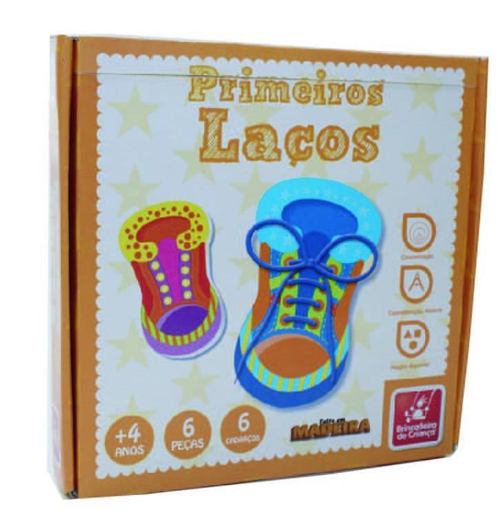 Brinquedo Educativo de Madeira Primeiros Laços