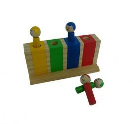 Brinquedo Educativo de Madeira Pula Fora