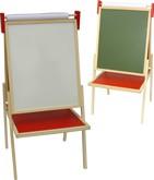 Brinquedo Educativo de Madeira Quadro para Pintura - 3 em 1