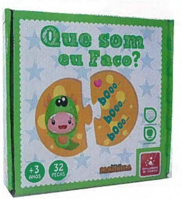Brinquedo Educativo de Madeira Que Som eu Faço?