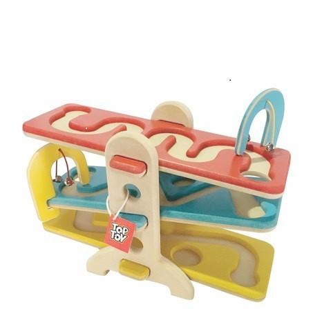 Brinquedo Educativo de Madeira Rola Bolinha