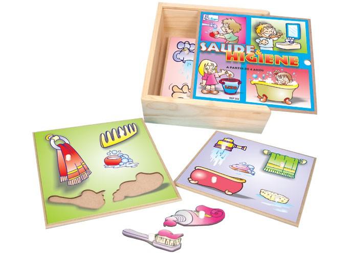 Brinquedo Educativo de Madeira Saude e Higiene
