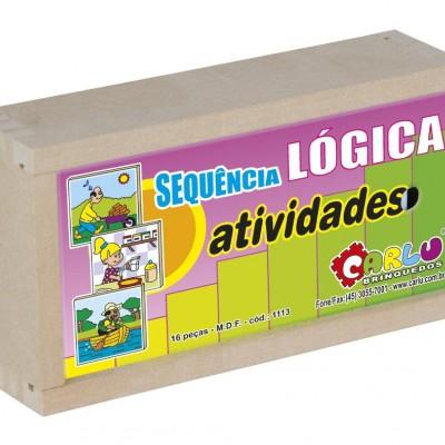 Brinquedo Educativo de Madeira Sequência Lógica Atividades