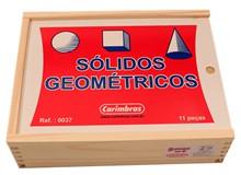 Brinquedo Educativo de Madeira Sólidos Geométricos