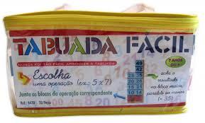 Brinquedo Educativo de Madeira Tabuada Fácil